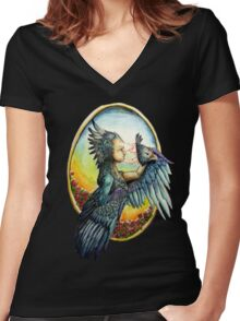 'Transformation' Women's Fitted V-Neck T-Shirt