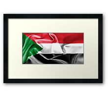 Sudan Flag Framed Print