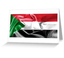 Sudan Flag Greeting Card