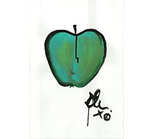 (green) Apple 1 Photographic Print