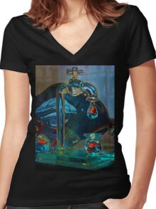 Murano Fish In Venice Italy Women's Fitted V-Neck T-Shirt