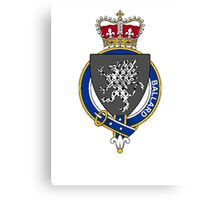 Coat of arms (family crest) for last-name or surname Ballard (England) . Heraldry banner for your name. Canvas Print