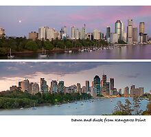 Dawn and dusk from Kangaroo Point by ken47