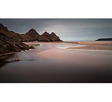 The river at Three Cliffs Bay Photographic Print