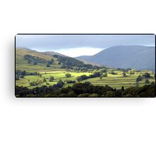 Lush Green Landscapes at Ambleside Canvas Print