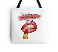 """On a bad day, there's always lipstick"" - fashion illustration from GìGì  Tote Bag"