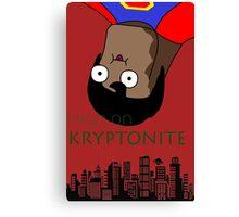 Derpy Superman - High On Kryptonite Canvas Print