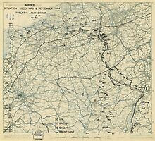 World War II Twelfth Army Group Situation Map September 15 1944 by allhistory