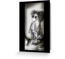 EDWARD BLACK & WHITE GOTH BOY Greeting Card