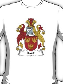 Coat of arms (family crest) for last-name or surname Band . Heraldry banner for your name. T-Shirt