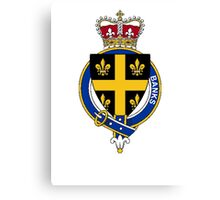 Coat of arms (family crest) for last-name or surname Banks (England) . Heraldry banner for your name. Canvas Print