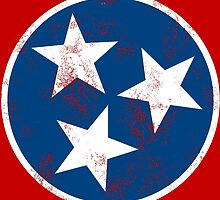 Tennessee State Flag T-shirt by Weston Miller