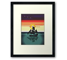 The Black Vector | Pirate Ship Framed Print