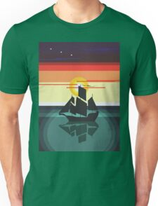 The Black Vector | Pirate Ship Unisex T-Shirt