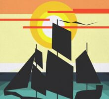 The Black Vector | Pirate Ship Sticker
