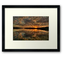 Land Of Reflections - Narrabeen Lakes, Sydney - The HDR Experience Framed Print