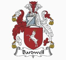 Coat of arms (family crest) for last-name or surname Bardwell . Heraldry banner for your name. by rita24