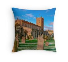 St Oswald's Church - Asgrigg  (HDR) Throw Pillow