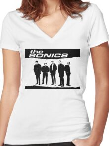 The Sonics T-Shirt Women's Fitted V-Neck T-Shirt
