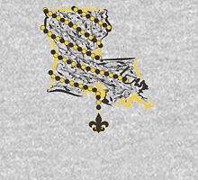 Louisiana State Wrapped in Black And Gold Beads 2 Mens V-Neck T-Shirt