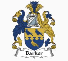 Coat of arms (family crest) for last-name or surname Barker . Heraldry banner for your name. by rita24