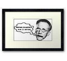 Schrödinger recalls Shakespeare Framed Print