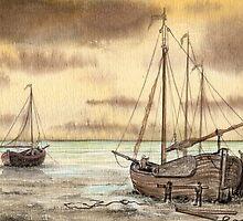 VLAARDINGEN HOLLAND ABOUT 1875 - NUMBER 2 - AQUAREL by RainbowArt