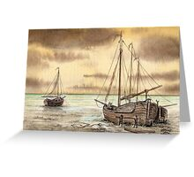 VLAARDINGEN HOLLAND ABOUT 1875 - NUMBER 2 - AQUAREL Greeting Card