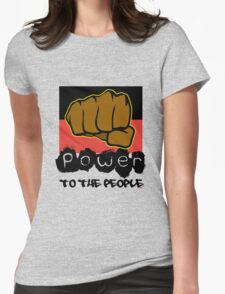 Power to the People [-0-] Womens Fitted T-Shirt