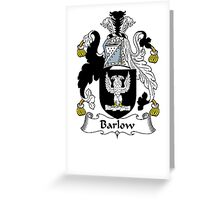 Coat of arms (family crest) for last-name or surname Barlow . Heraldry banner for your name. Greeting Card