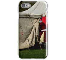 Entering a tent iPhone Case/Skin