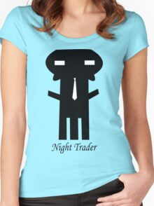 NIGHT TRADER Women's Fitted Scoop T-Shirt