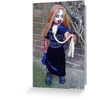 Bethina custom zombie doll. Greeting Card