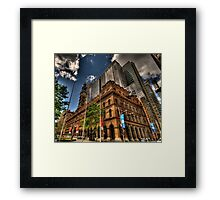 Old & New - GPO Building, Martin Place Sydney - The HDR Experience Framed Print