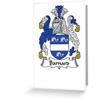 Coat of arms (family crest) for last-name or surname Barnard I . Heraldry banner for your name. Greeting Card