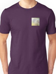 Serenity Prayer Boulder and Butterfly Bush Unisex T-Shirt