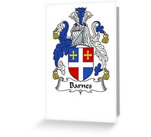 Coat of arms (family crest) for last-name or surname Barnes I . Heraldry banner for your name. Greeting Card