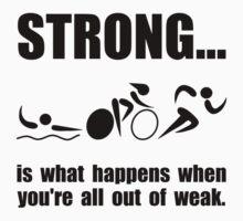 Triathlon Strong by AmazingMart