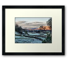 A Touch Of Frost In Swaledale Framed Print