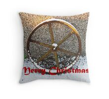 'Wheelie' Wonderful Christmas time! Throw Pillow
