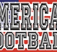 FOOTBALL, GAME, American football, gridiron, USA Flag by TOM HILL - Designer