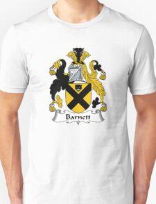 Coat of arms (family crest) for last-name or surname Barnett . Heraldry banner for your name. T-Shirt