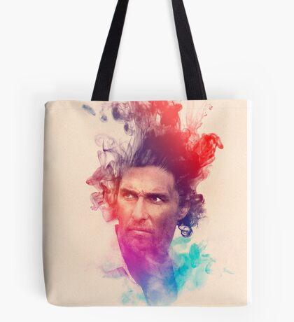 Matthew McConaughey Ink Watercolor Splash Portrait True Detective Tote Bag