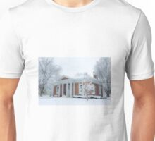 Hudson Falls Free Library in Winter Unisex T-Shirt