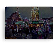 Nuremberg Christkindles-Market Canvas Print