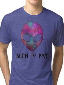 Alien to Love - PURPLE Tri-blend T-Shirt