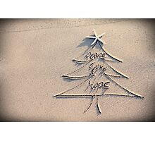Wishes for a peaceful Christmas Photographic Print