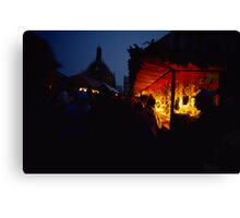 Nuremberg Christkindles-Market in the Evening Canvas Print