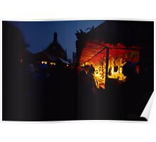 Nuremberg Christkindles-Market in the Evening Poster
