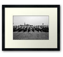Venetian Gondolas Framed Print
